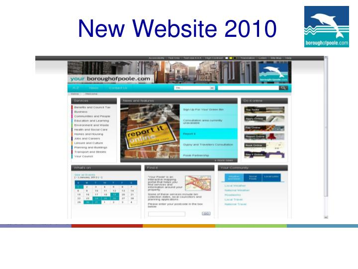 New Website 2010