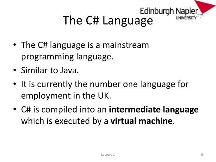 The C# Language