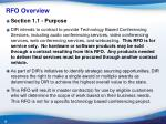 rfo overview