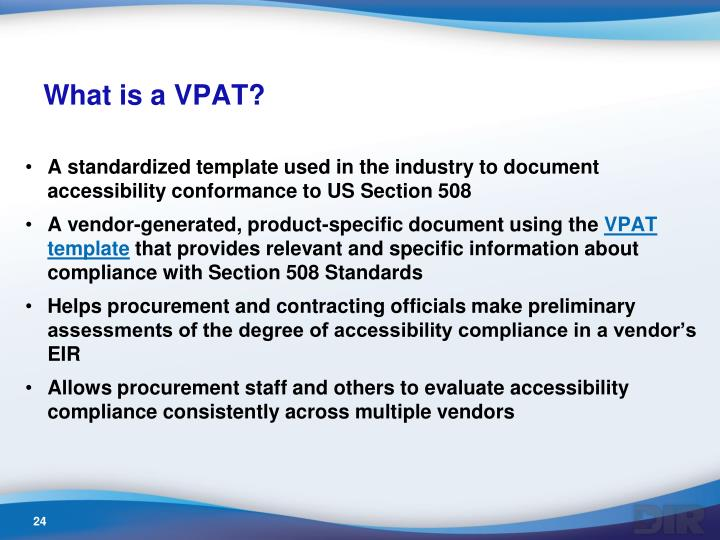 What is a VPAT?