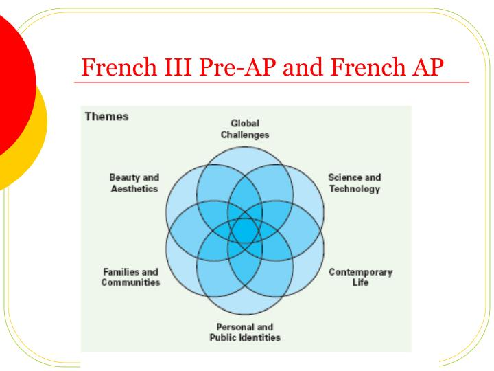 French III Pre-AP and French AP
