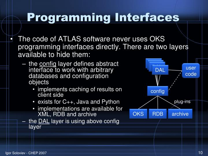 Programming Interfaces