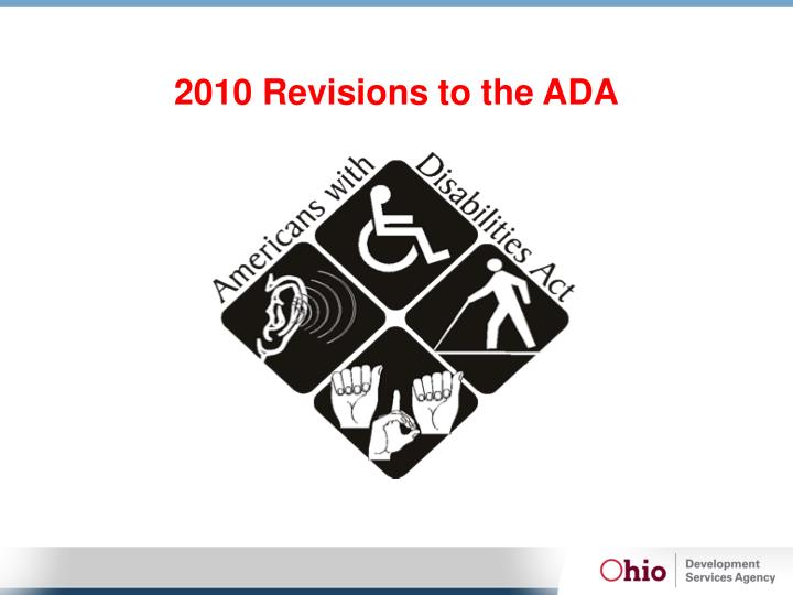 2010 Revisions to the ADA