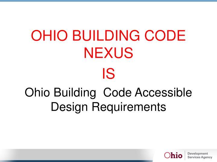 OHIO BUILDING CODE NEXUS