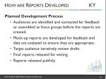 how are reports developed ky1
