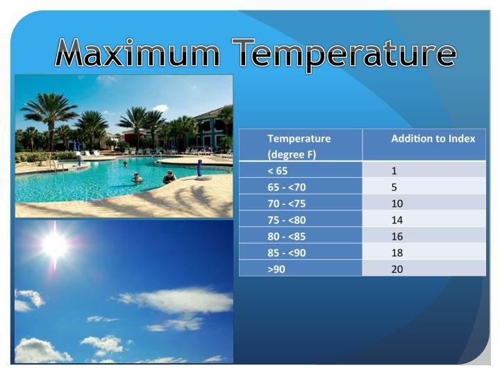 Maximum Temperature
