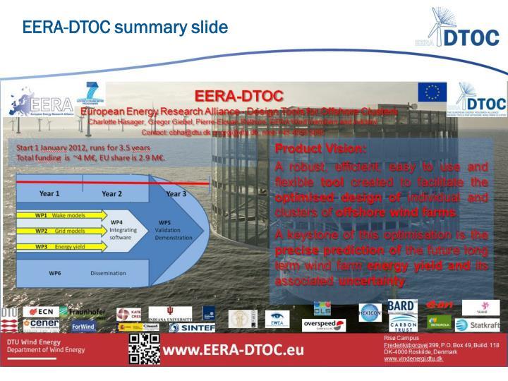 EERA-DTOC summary slide