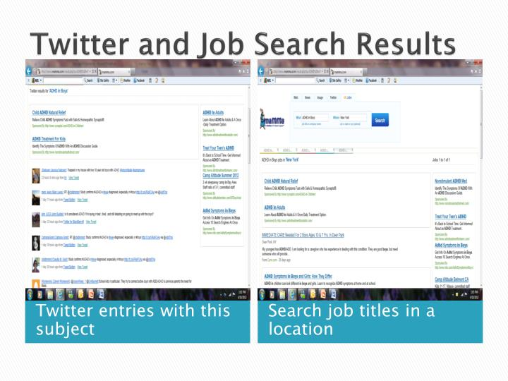 Twitter and Job Search Results