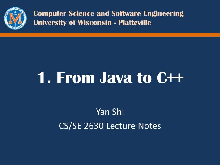 1 from java to c