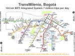 transmilenio bogot 104 km brt integrated system 7 million trips per day