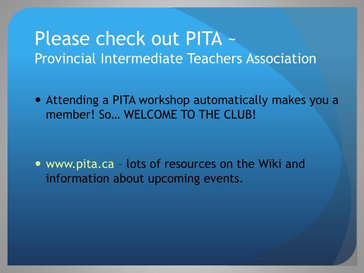 Please check out PITA ~