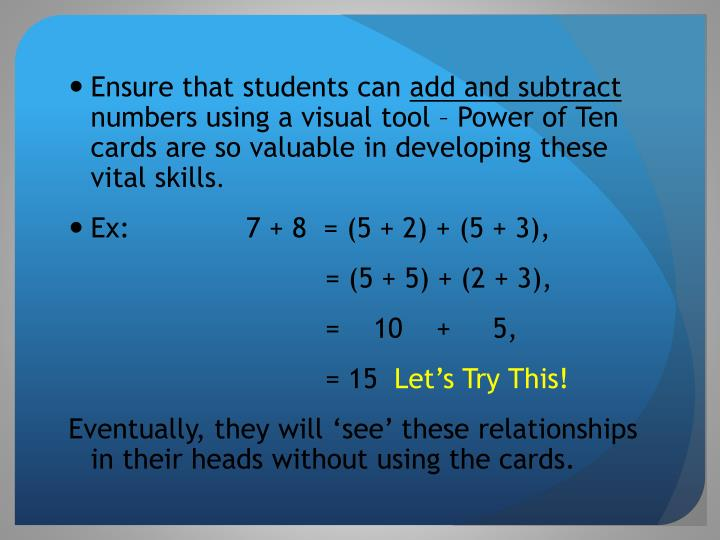 Ensure that students can