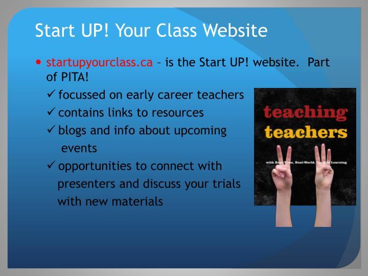 Start UP! Your Class Website