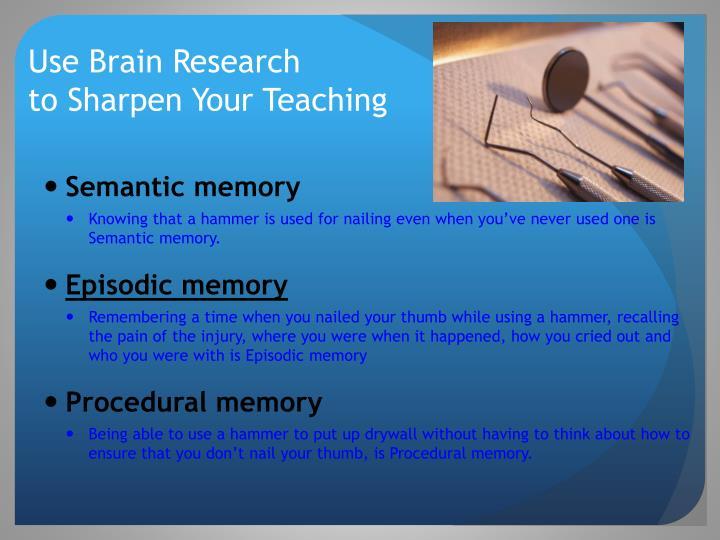 Use Brain Research