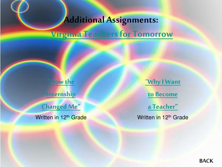 Additional Assignments: