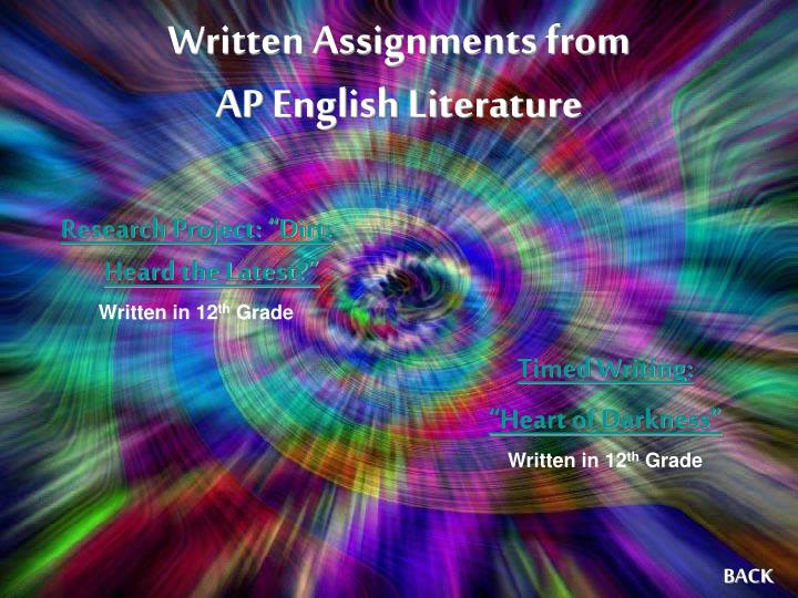 Written Assignments from