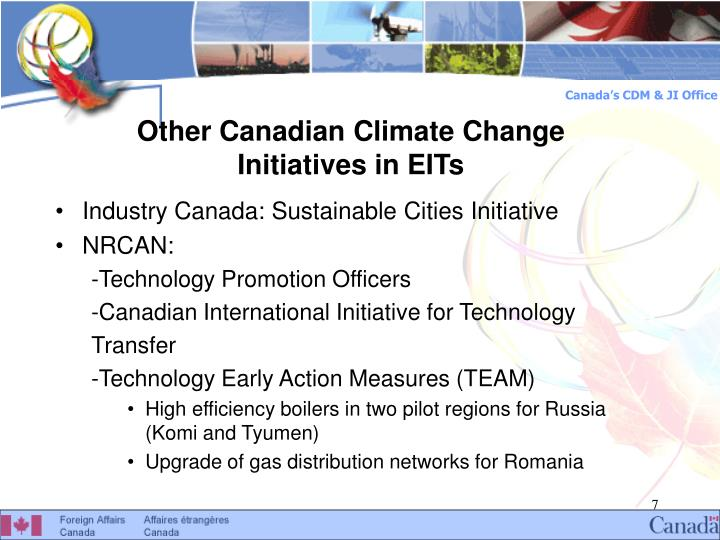 Other Canadian Climate Change Initiatives in EITs