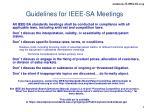 guidelines for ieee sa meetings