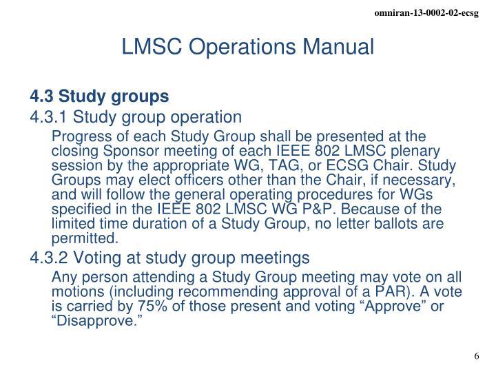 LMSC Operations Manual