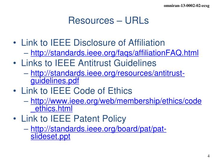 Link to IEEE Disclosure of Affiliation