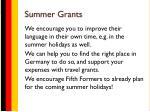 summer grants