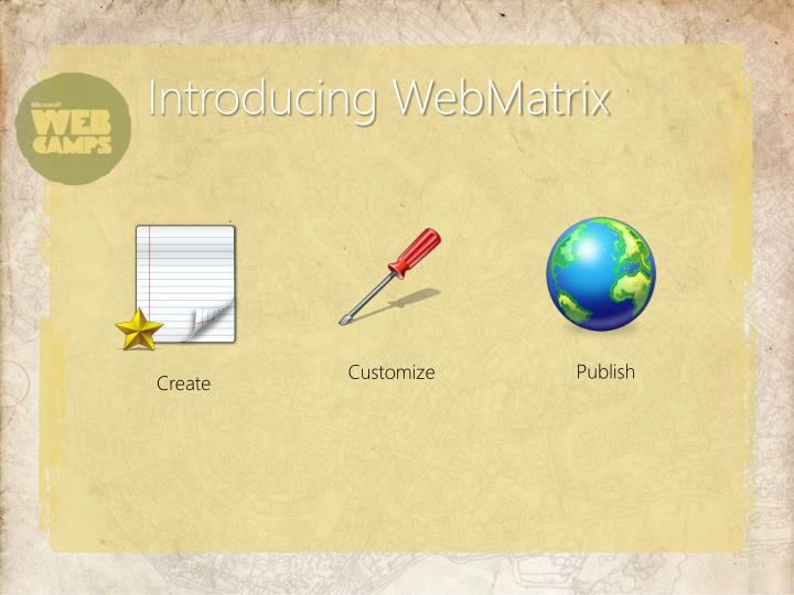 Introducing WebMatrix