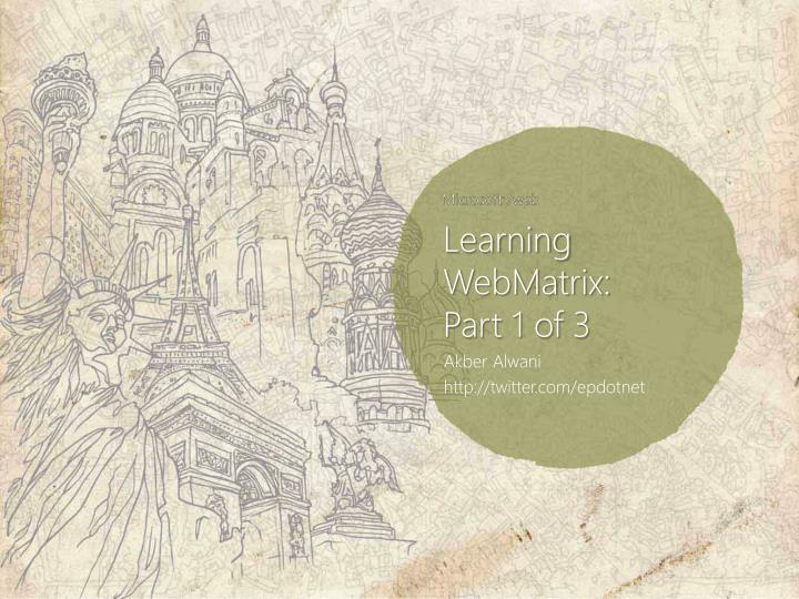 Learning WebMatrix: