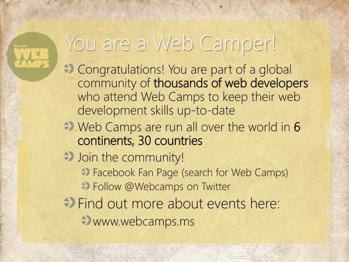 You are a Web Camper!