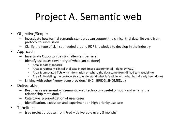 Project A. Semantic web