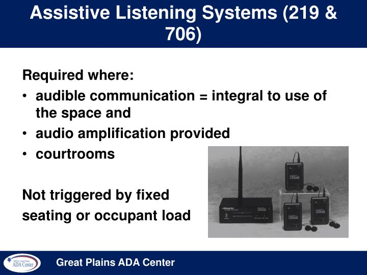 Assistive Listening Systems (219 & 706)