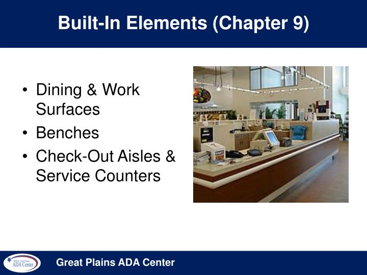Built-In Elements (Chapter 9)