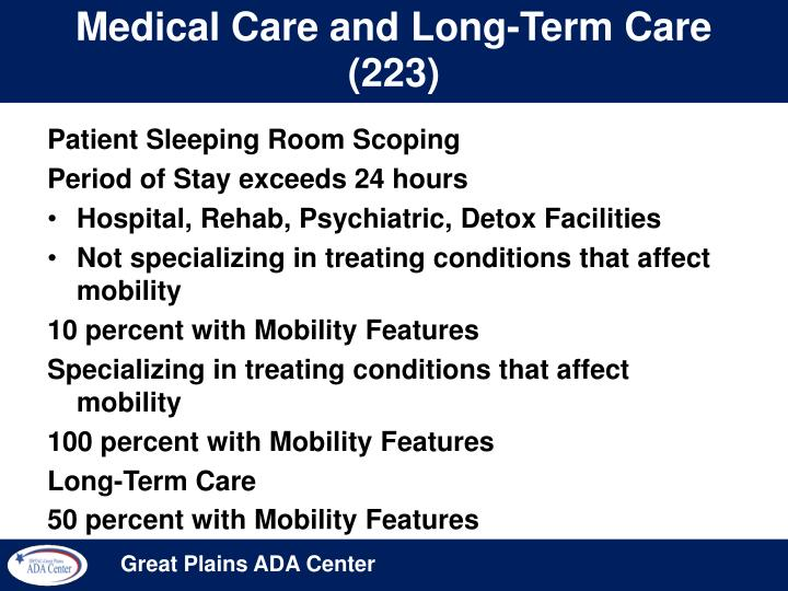 Medical Care and Long-Term Care (223)