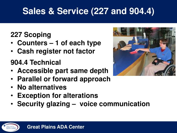 Sales & Service (227 and 904.4)