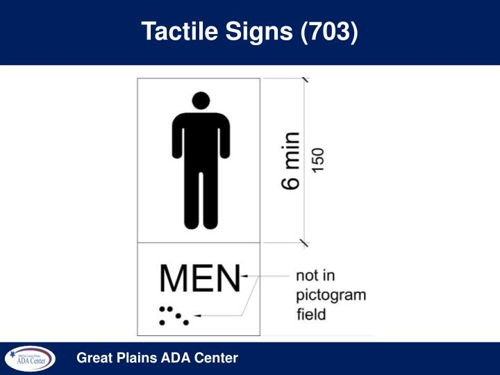 Tactile Signs (703)
