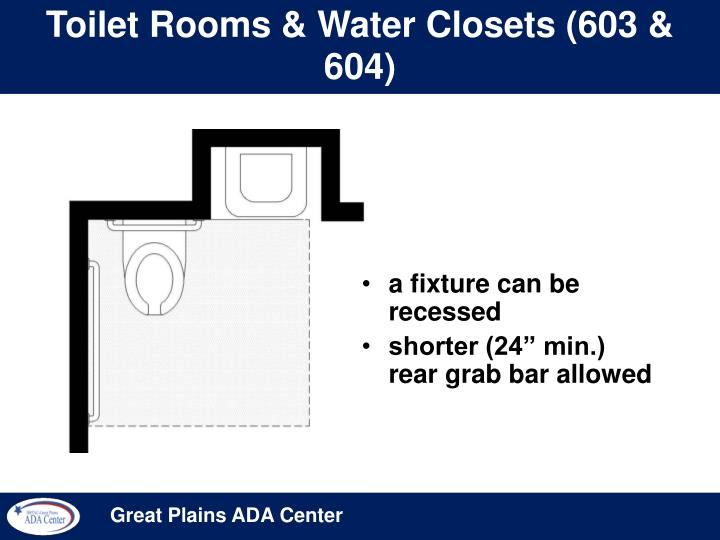 Toilet Rooms & Water Closets (603 & 604)