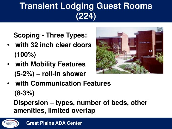 Transient Lodging Guest Rooms (224)