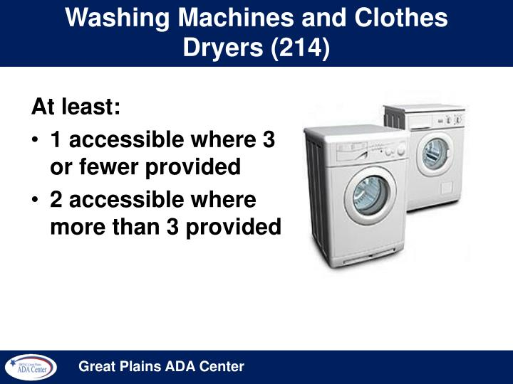 Washing Machines and Clothes Dryers (214)