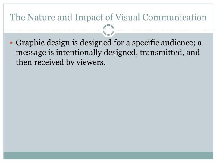The Nature and Impact of Visual Communication