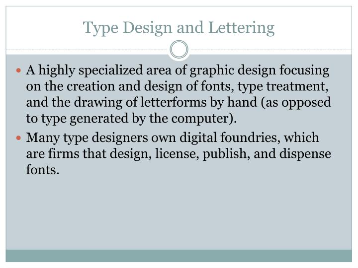 Type Design and Lettering