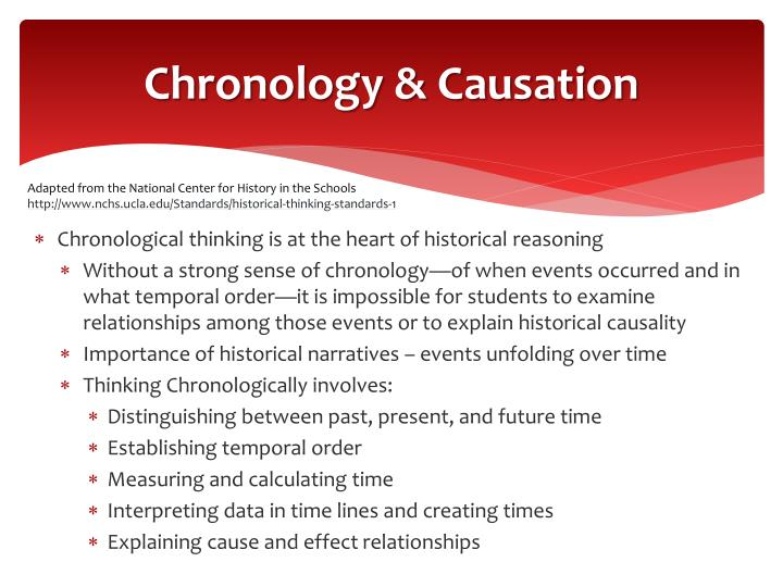 Chronology & Causation