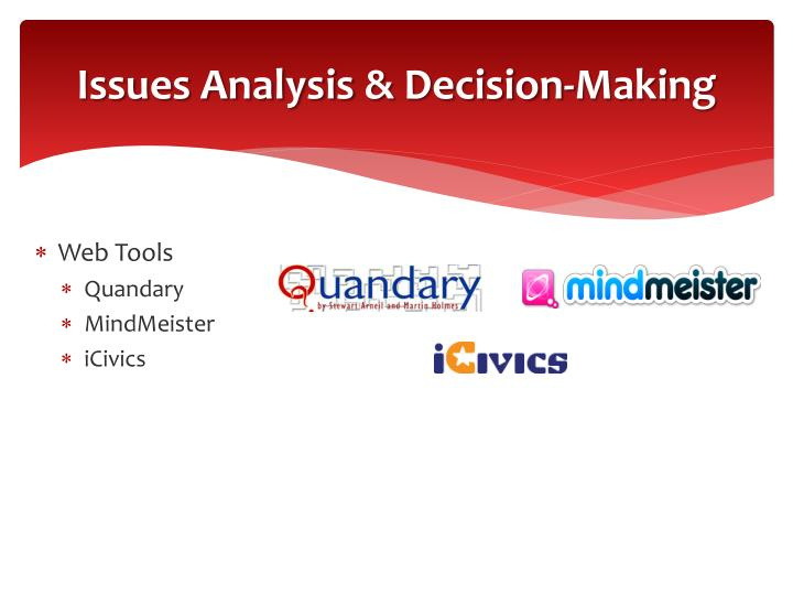 Issues Analysis