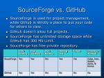 sourceforge vs github
