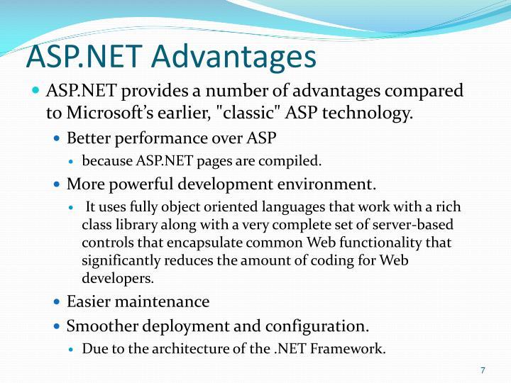 ASP.NET Advantages