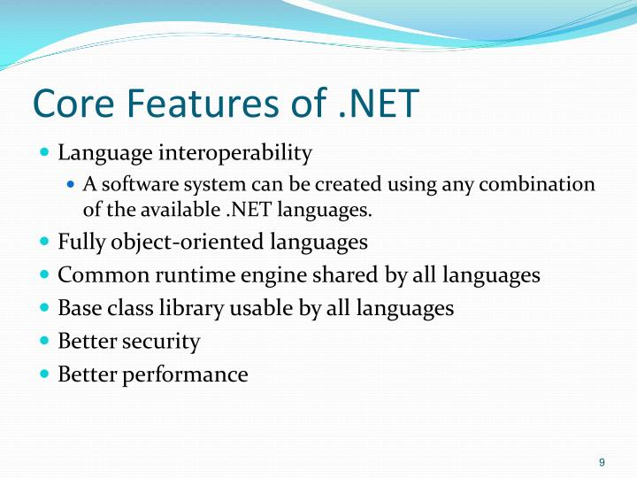 Core Features of .NET