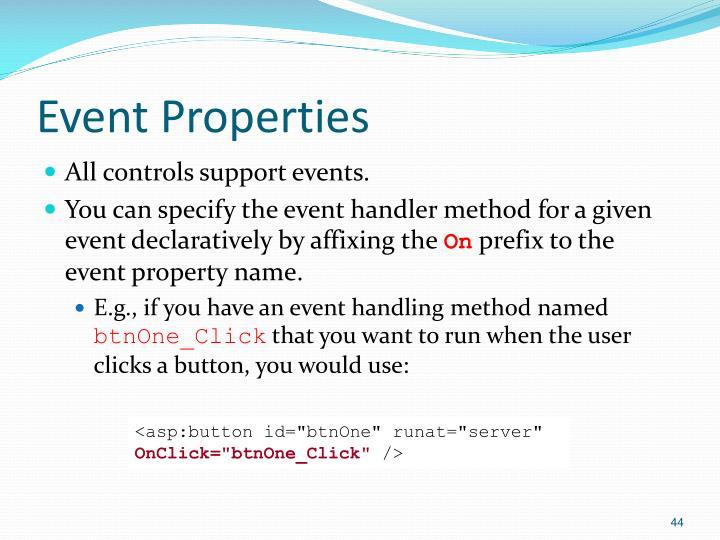 Event Properties