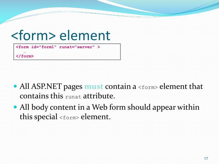 <form> element