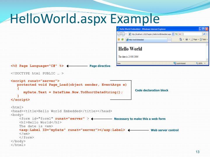 HelloWorld.aspx Example
