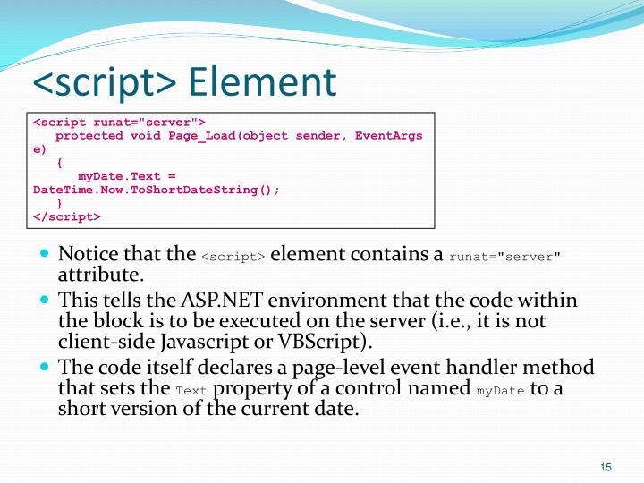 <script> Element