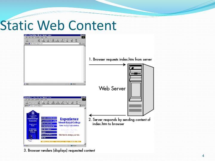 Static Web Content