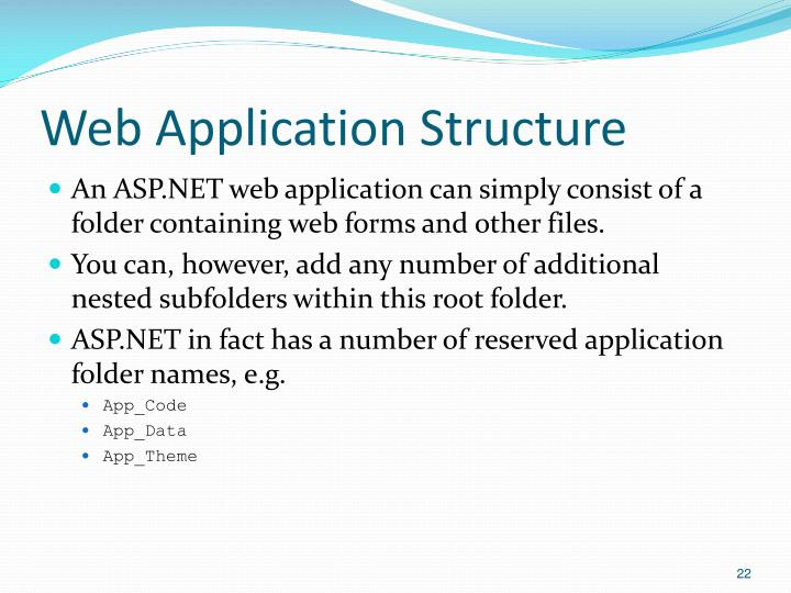 Web Application Structure